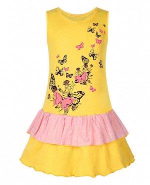 Жёлтый сарафан для девочки Цвет: жёлтый