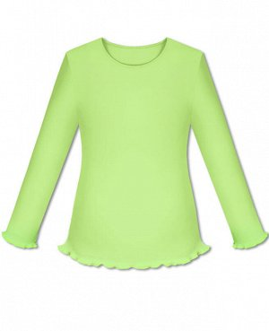 Салатовая школьная блузка для девочки Цвет: салатовый