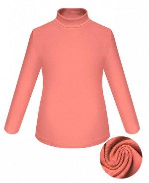Коралловая водолазка для девочки Цвет: коралловый