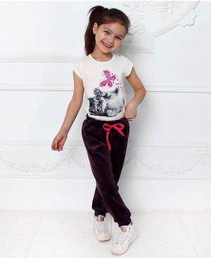 Молочная футболка для девочки Цвет: молочный