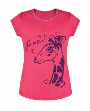 Розовая футболка для девочки Цвет: розовый