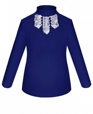Синяя школьная блузка для девочки Цвет: синий
