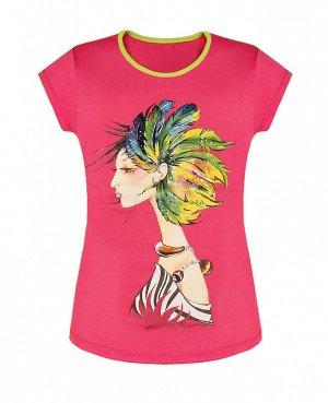 Розовая футболка для девочек Цвет: розовый