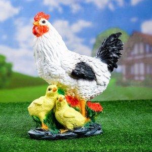"Садовая фигура ""Курица с цыплятами"" 17*25*33 см"