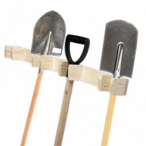 Держатель для садового инвентаря, настенный, под 4 инструмента