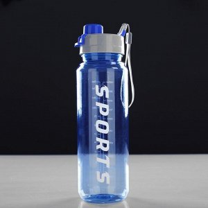 "Бутылка для воды 1000 мл ""Sports"",  микс, 8х26 см"