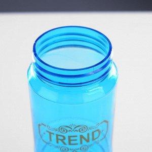 Бутылка для воды 600 мл, на шнурке, микс, 7х7х22.5 см
