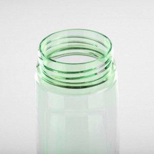 Бутылка для воды 700 мл, прозрачная, крышка с соской, на браслете, микс, 7х22 см