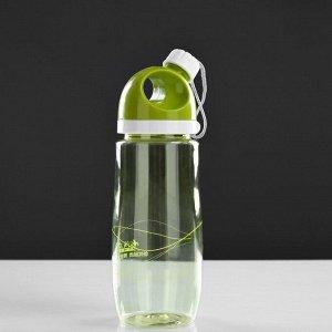 Бутылка для воды 550мл мл, поильник в крышке винтовой, микс, 7х23 см