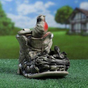 """Кашпо фигурное """"Гнездо в башмаке"""", цвет серый, 1.2 л"""