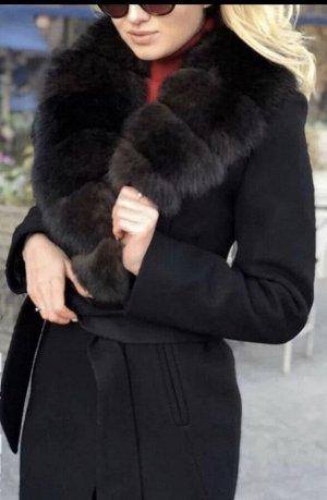 Шикарное утеплённое пальто