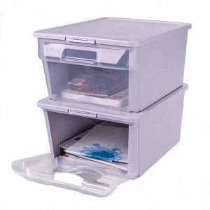 Ящик универсальный с замками и вставкой органайзером Grand Box 390х290х180 мм 16,7л