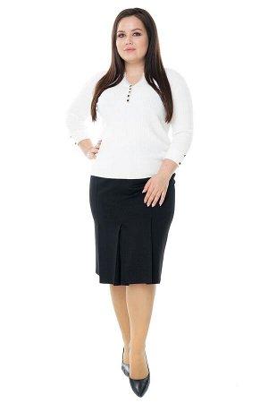 Юбка-9812 Длина платья: Ниже колена; Цвет: Черный; Фасон: Юбка Юбка карандаш со встречными складками по низу черная Длина изделия 50 размера по спинке - 64 см. В каждом следующем размере длина увеличи