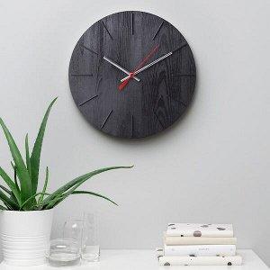 ВОКАЛИССА Настенные часы, под дерево, черный, 30 см