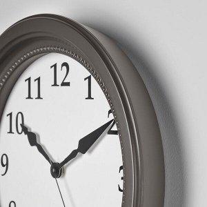 СЁНДРУМ Настенные часы, серый, 35 см