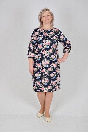 Платье Катрин (джинса, расцветка 3)