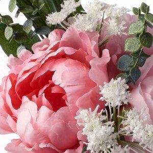 СМИККА Искусственный букет, розовый, 25 см