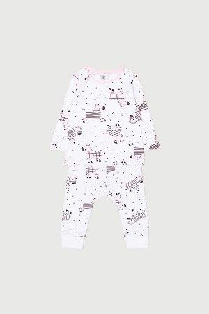 Комплект(Весна-Лето)+baby (веселые зебры на белом)