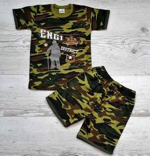 Костюм для мальчика (футболка+шорты) УЗБЕКИСТАН