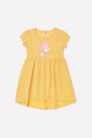 Платье для девочки Crockid К 5600 желтый, горошки