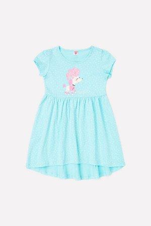 Платье для девочки Crockid К 5600 морозная мята, горошки