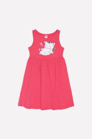 Платье для девочки Crockid К 5595 клюква горошки