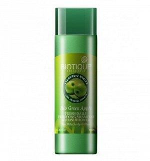 Bio Green Apple Fresh Daily Purifying Shampoo & Conditioner/Биотик Био шампунь И Кондиционер Зеленое Яблоко, 120 мл.