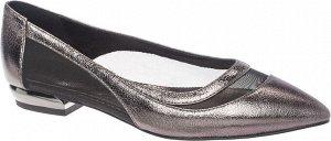 909007/02-03 т.серебряный иск.кожа/ПВХ женские туфли