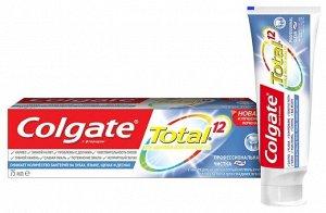 З.паста COLGATE 75мл Total12 Проф.чистка паста