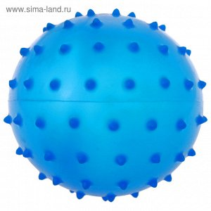 Мячик массажный, матовый пластизоль d=8 см, 15 гр, цвет МИКС