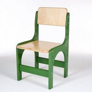 Стул детский регулируемый Альфа 00-1, Зеленый/Лак