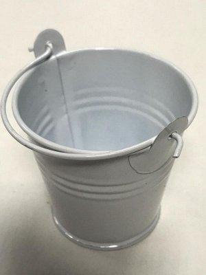 Ведёрко металл мини 5.5*6см цвет белый