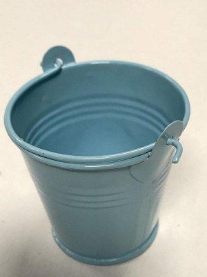 Ведёрко металл мини 5.5*6см цвет голубой