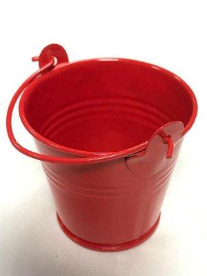 Ведёрко металл мини 5.5*6см цвет красный