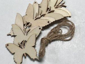 Заготовки деревянные декор Бабочки 5 см (8шт в пачке)