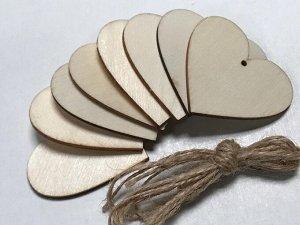 Заготовки деревянные декор 5 см(8шт в пачке)
