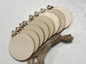 Заготовки деревянные декор Шарики 4,5 см (8шт в пачке)