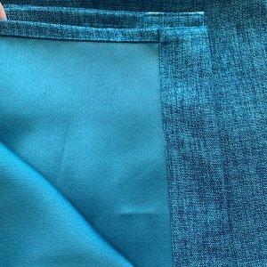 Блэкаут лен джинс 2 шторы по 1,5 метра длина 270 см