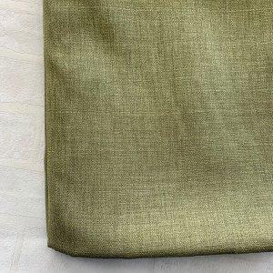 Лен зелень тонкий 2 шторы по 2 метра длина 270 см