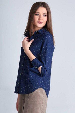 Рубашка Рубашка Golden Valley 2232 №1  Состав ткани: ПЭ-22%; Хлопок-76%; Эластан-2%;  Рост: 170 см.  Блузка с центральной застежкой на петли и пуговицы, втачным воротником с отрезной стойкой. По пере