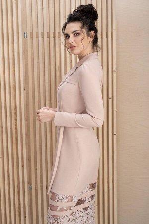 Платье Платье ЮРС 20-151/5  Состав ткани: Вискоза-67%; Спандекс-4%; Нейлон-29%;  Рост: 164 см.  Это платье, ода нежности и женственности, не оставит никого равнодушным. Женщина в таком платье выгляди