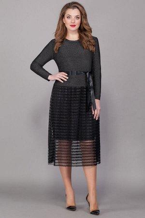 Платье Платье Beautiful&Free 2013 черное  Состав ткани: Вискоза-70%; ПЭ-25%; Эластан-5%;  Рост: 164 см.  Нарядное трикотажное платье, отрезное по линии талии. Состоит из двух видов тканей-верх из три