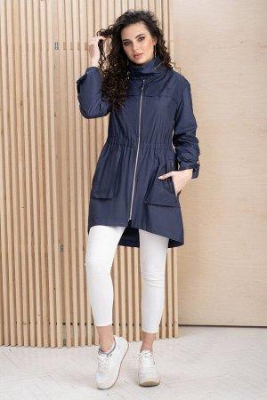 Куртка Куртка ЮРС 20-897/3 темно-синий  Состав ткани: ПЭ-100%;  Рост: 164 см.  Стильная куртка – важная часть базового женского гардероба.  Эта куртка легко сочетается с различными предметами ж