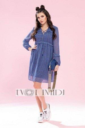 Платье Твой имидж Артикул: 1198 синий