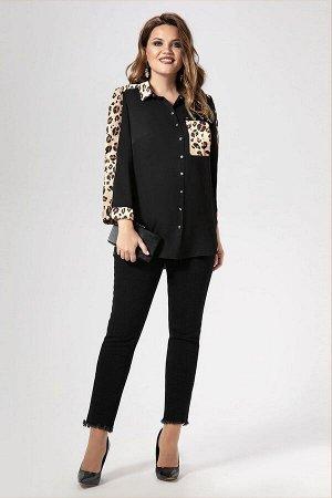 Блуза Панда Артикул: 470140 светло-бежевый