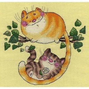 Набор для вышивания Кларт Котята На Дереве