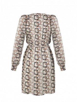 Платье Rinas.cimento Цвет: var beige Lining:95%Polyester-5%Elastane Main part:98%Polyester-2%Metal