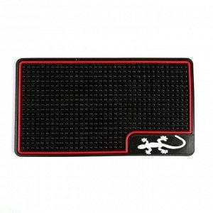 Массажный коврик подлокотника, ящерица с красной окантовкой, 26х15 см