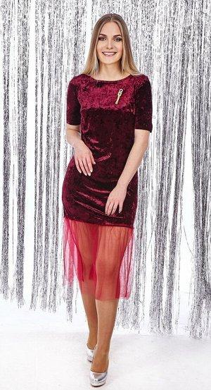 Платье женское 2445/01/Бордовый