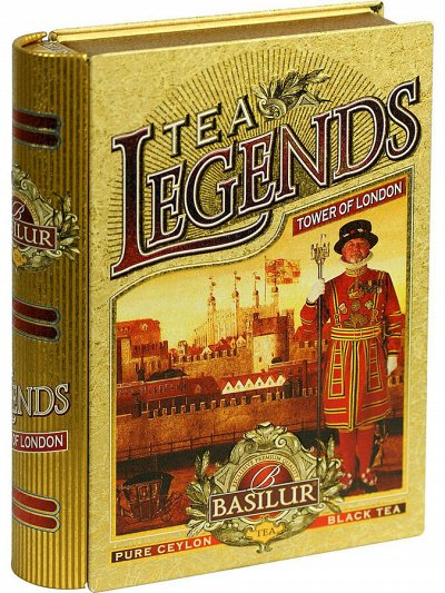 4*Элитный чай. Basilur, Svay, Williams, Jaf tea... — BASILUR (ЛИСТОВОЙ В Ж/Б) — Чай